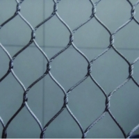 Гибкие сетки из нержавеющего кабеля ( тип узловой)